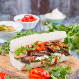 Delicious Vietnamese Bánh Mì sandwich