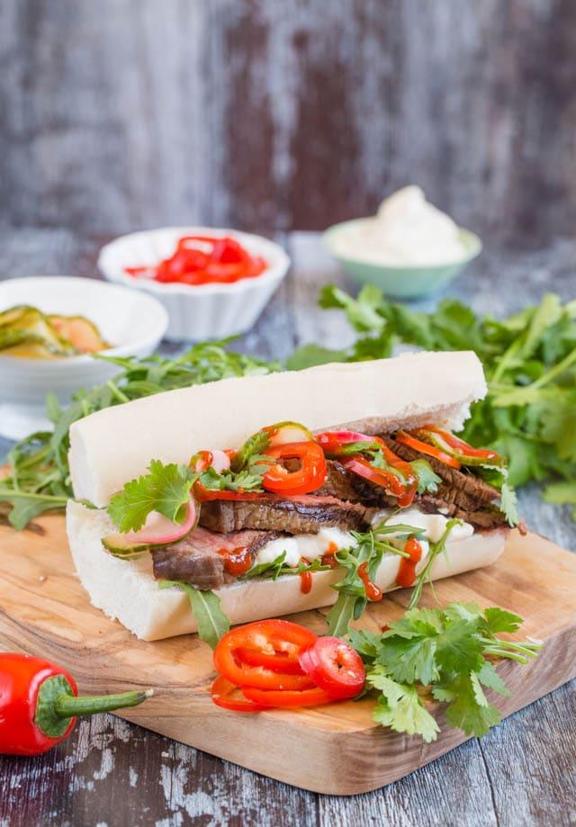Recipe: Steak Bánh Mì Vietnamese Sandwich