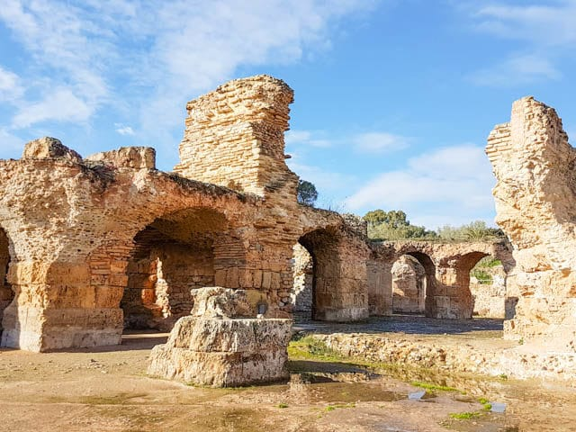 Ancient ruins of the city of Carthage, Tunisia