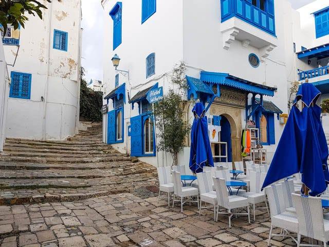 Views of Sidi Bou Said, Tunisia's town of artists.