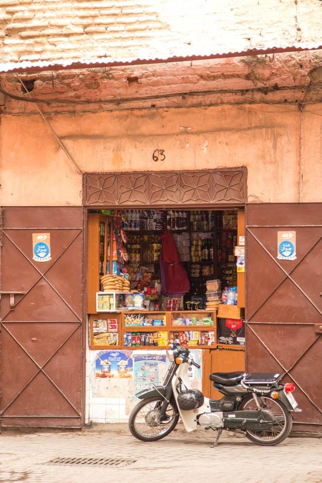 Marrakech corner shop