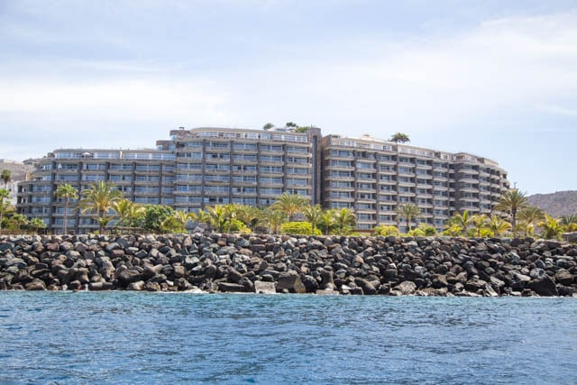 Anfi resort from the sea