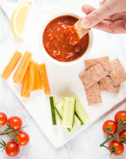 Bloody Mary Tomato Sauce is easy and versatile: serve as dip or dressing