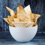 Crispy Baked Homemade Tortilla Chips Made From Wraps