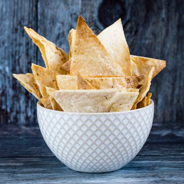 Crispy Baked Homemade Tortilla Chips