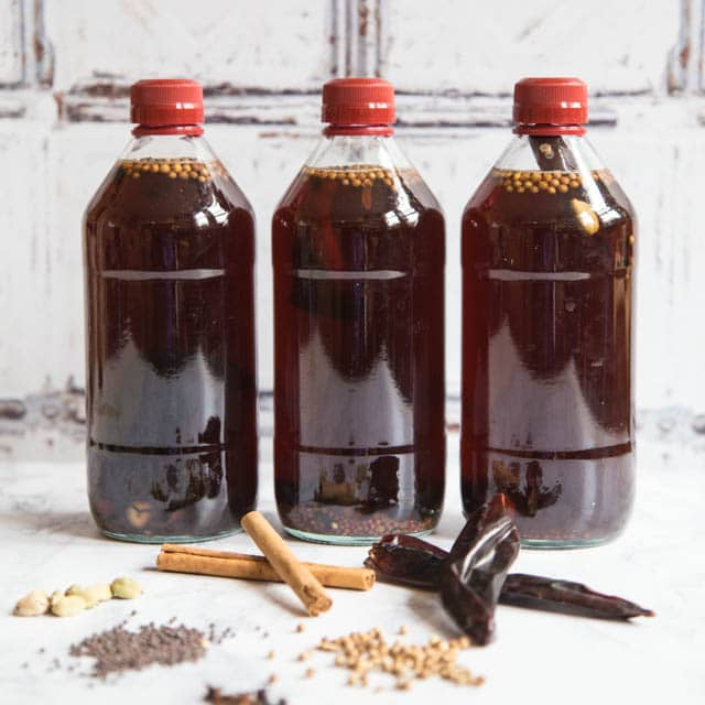 Making your own pickling vinegar for pickles and chutneys is really easy and far tastier than buying ready made. Make a batch in advance of the abundant summer harvest