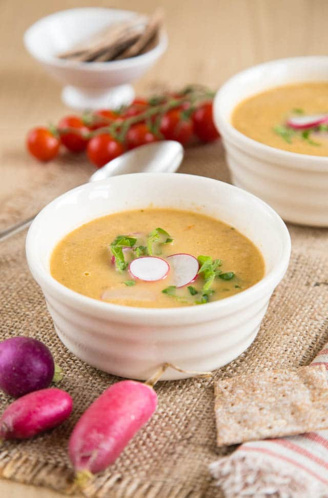 This delicious leftover salad soup is quick and easy to make and uses up spare dressed salad.