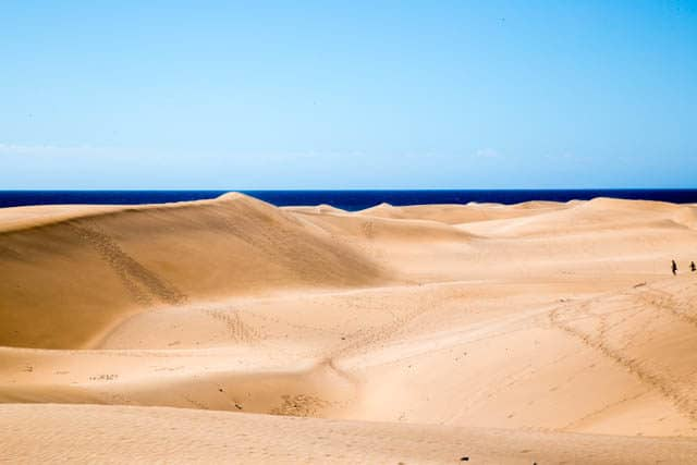 The spectacular sand dunes of Maspalomas, Gran Canaria