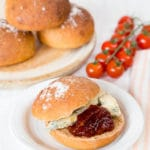 Delicious savoury chutney rolls, perfect for picnics, with blue cheese or a burger.