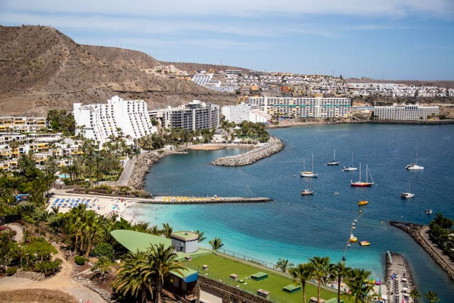 View from Anfi del Mer in Gran Canaria