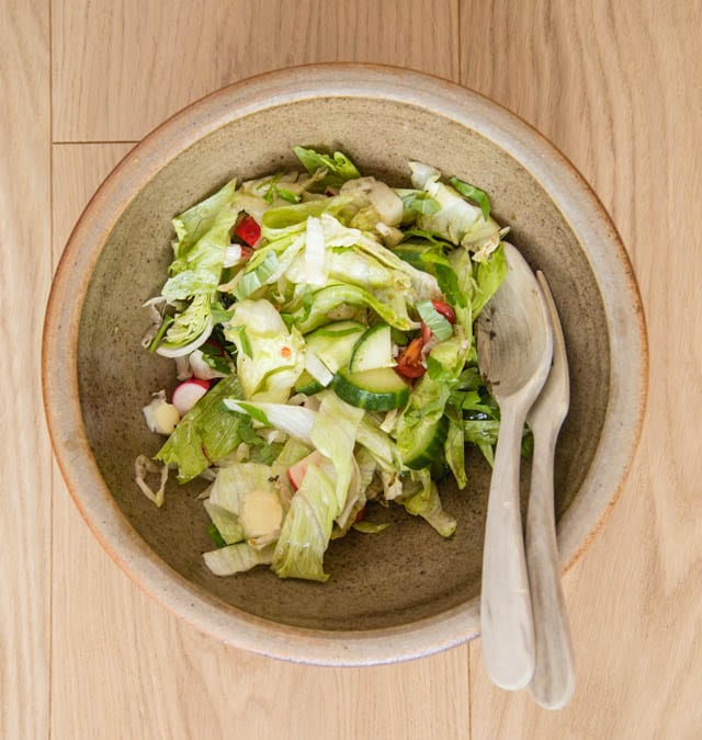 Don't bin this bowl of wilted leftover salad, make our delicious leftover salad soup instead.