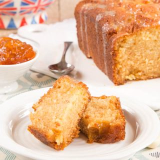 A real treat of orange marmalade loaf cake, with sticky drizzle.