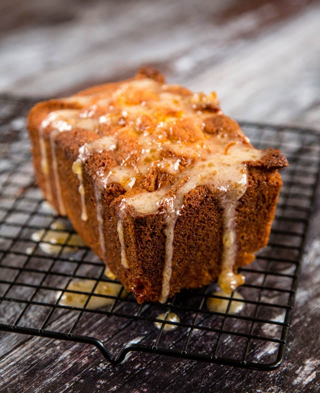Delicious, sticky orange marmalade loaf cake
