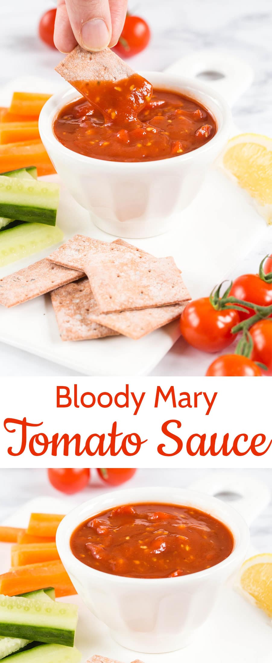 Bloody Mary tomato sauce; a hint of heat makes this easy-to-make sauce a real winner. Use as a dip or sauce, it's brilliantly versatile