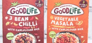 Goodlife frozen ready meals - veggie packed with cauliflower rice and under 300 calories