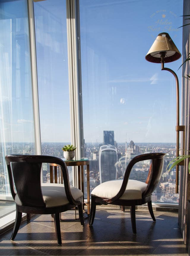 View from the 52nd floor at the Shangri La, London Shard