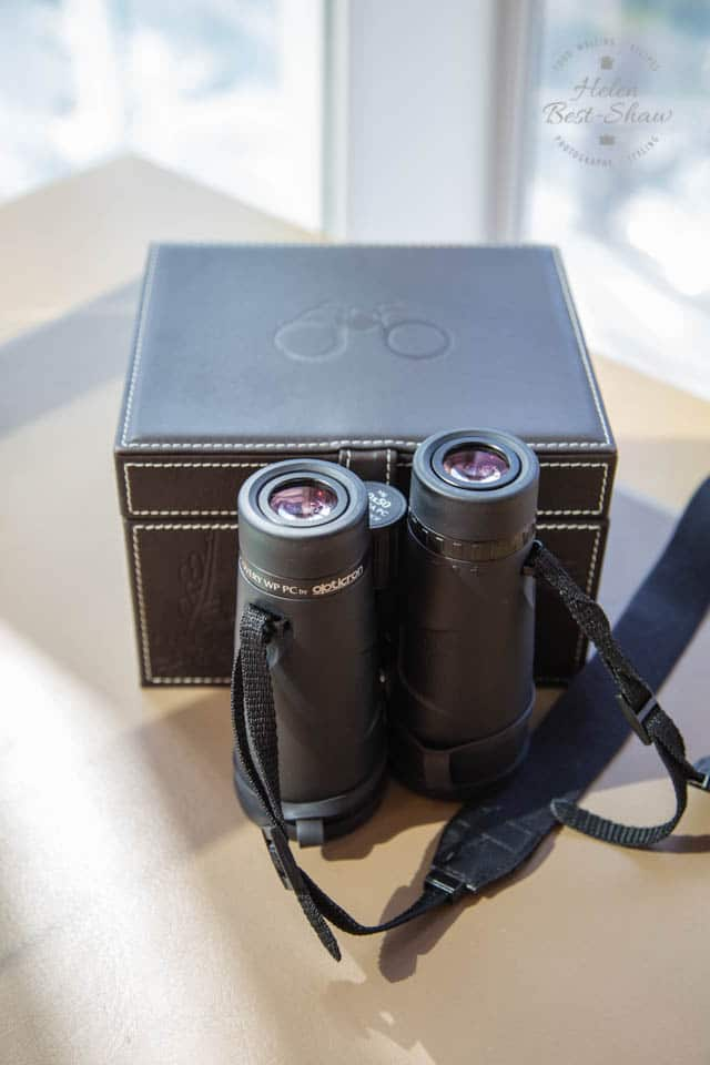 Binoculars in every room at the Shangri La London Shard