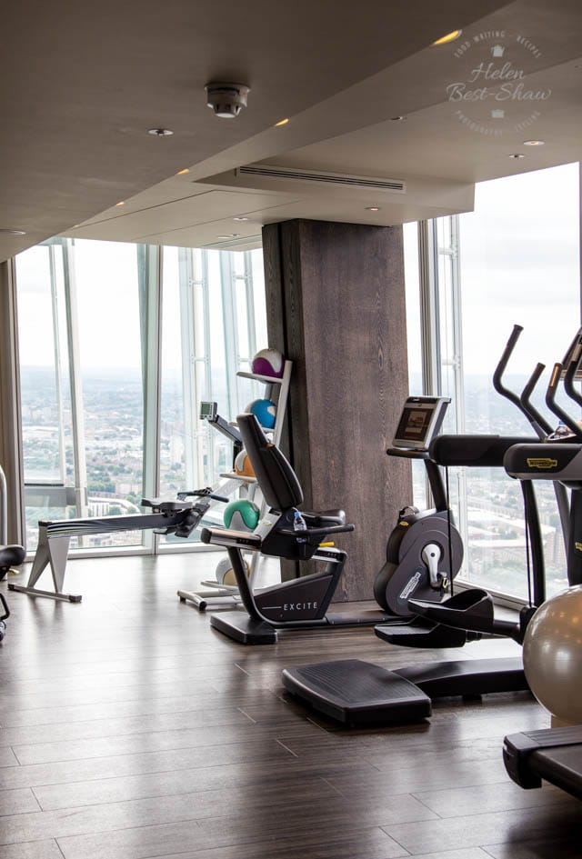 Gym at the Shangri La at the London Shard