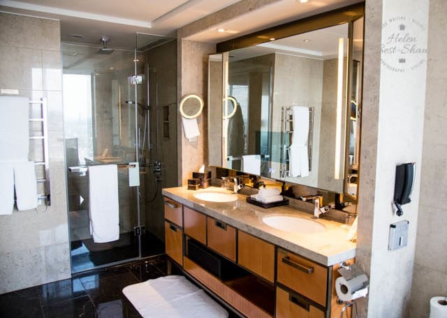 Bathroom at the Shangri La Hotel London Shard