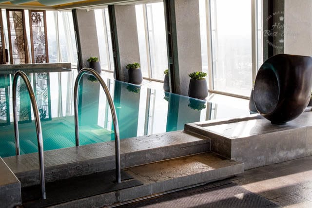 Pool at the Shangri La London at the Shard