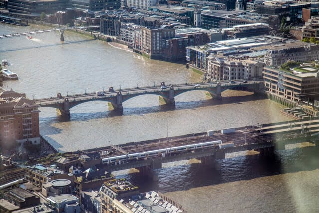 Southwark Bridge from the Shangri-La Hotel, The Shard, London