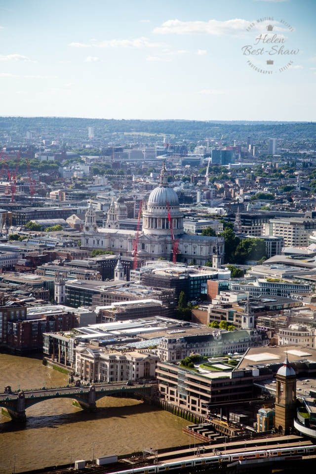 St Pauls and the City from the Shangri-La Hotel, The Shard, London