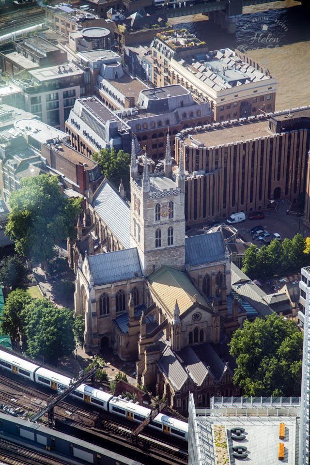 Southwark Cathedral from the Shangri-La Hotel, The Shard, London