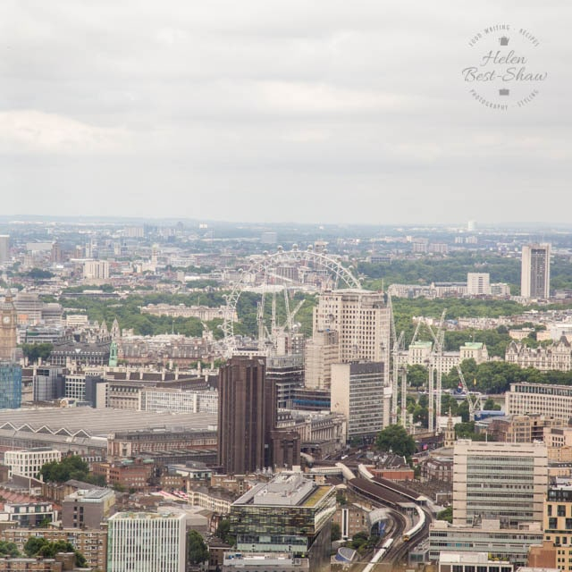 The London Eye, Waterloo Station from the Shangri-La Hotel, The Shard, London