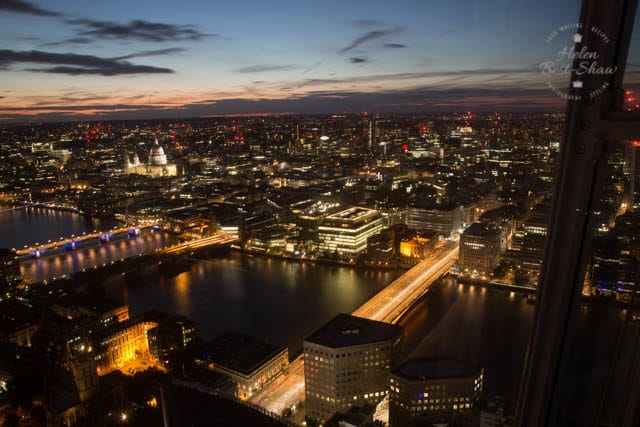 The View from Shangri La London at the Shard - The city at night