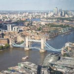 Tower bridge from the Shangri-La Hotel, The Shard, London