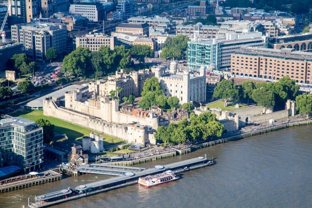 The Tower of London from the Shangri-La Hotel, The Shard, London