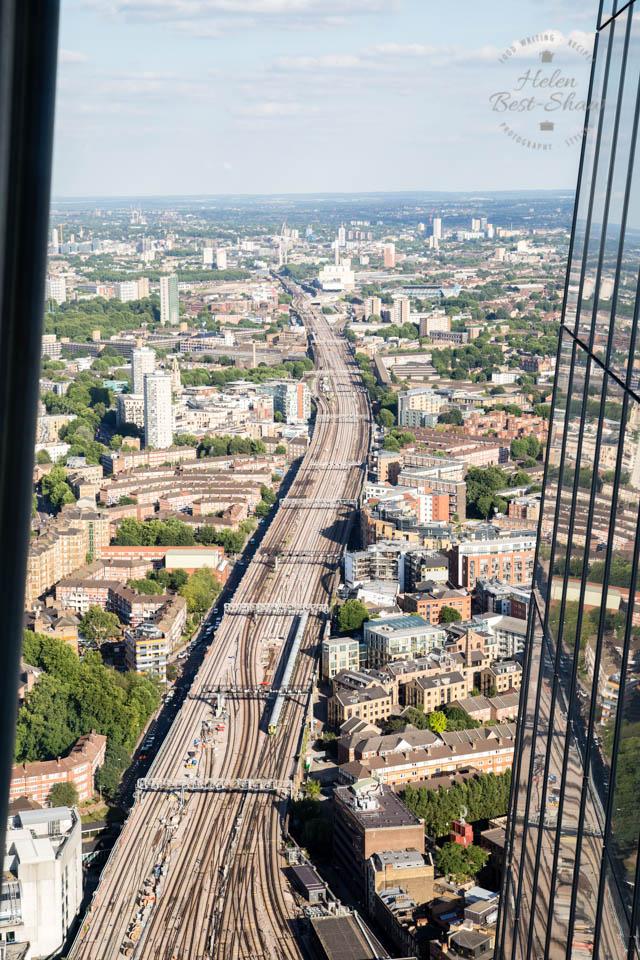 Railway lines from London Bridge from the Shangri-La Hotel, The Shard, London