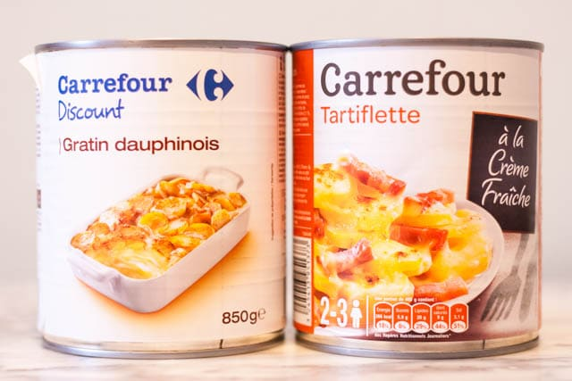 French supermarket haul - tinned gratins