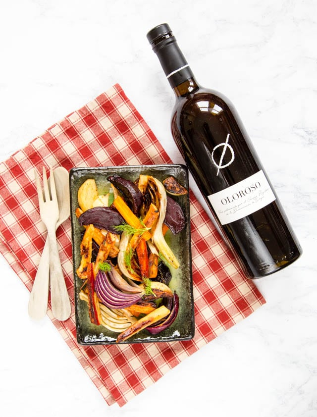 Nutty oloroso is the perfect base for our delicious honey and sherry glazed vegetables