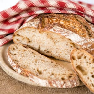 Delicious no knead sourdough bread; a true sourdough flavour and open crumb. Made with minimal effort and raised in the fridge