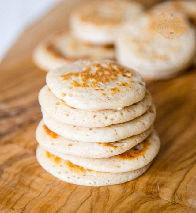 Rich and savoury buckwheat sourdough blinis