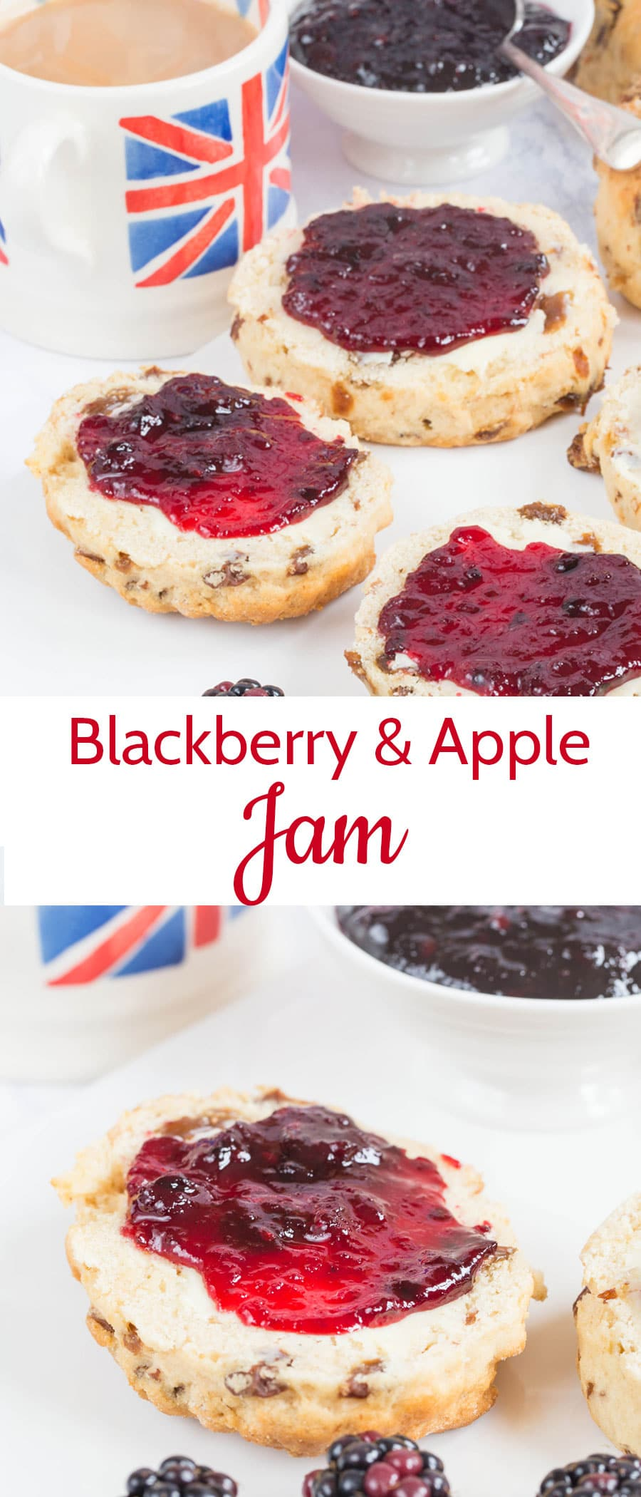 This easy small batch blackberry and apple jam is quick to make and produces delicious results. It couldn't be more British!