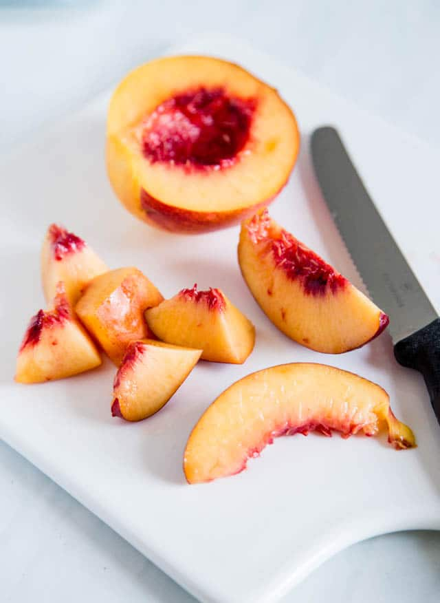Fresh and juicy nectarines. Delicious, especially when made into jam!