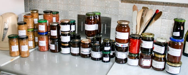 chutney and preserve stash