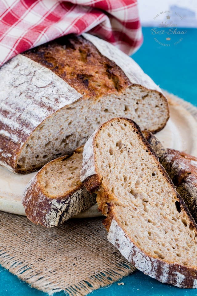 Rye sourdough with honey and milk. A rich and flavourful loaf.