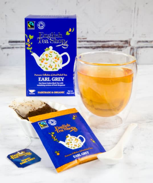 Organic, fairtrade English Tea Shop Earl Grey teabags.