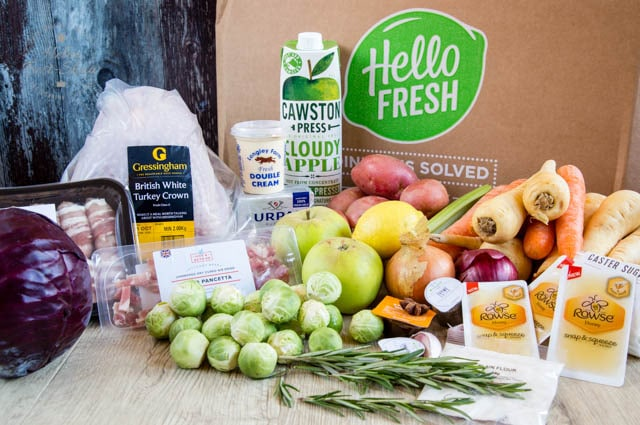 Everything you need for a delicious Christmas feast in a box from Hello Fresh.