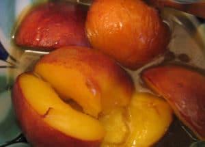 Hot Peaches in Butterscotch Sauce