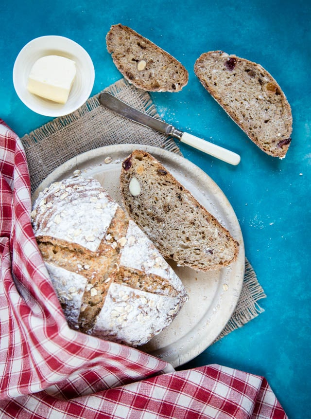 Yummy muesli sourdough bread makes excellent tea time toast!