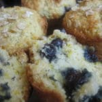 Okara lemon and blueberry muffins