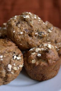 Prune and walnut muffins
