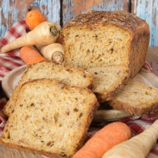 Root vegetable bread; here made with carrot and parsnip, a great winter loaf.