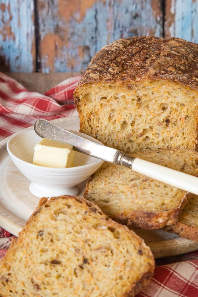 Root vegetable bread, A delicious loaf with a hint of savoury flavour.