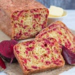 Superbly coloured sliced beetroot bread