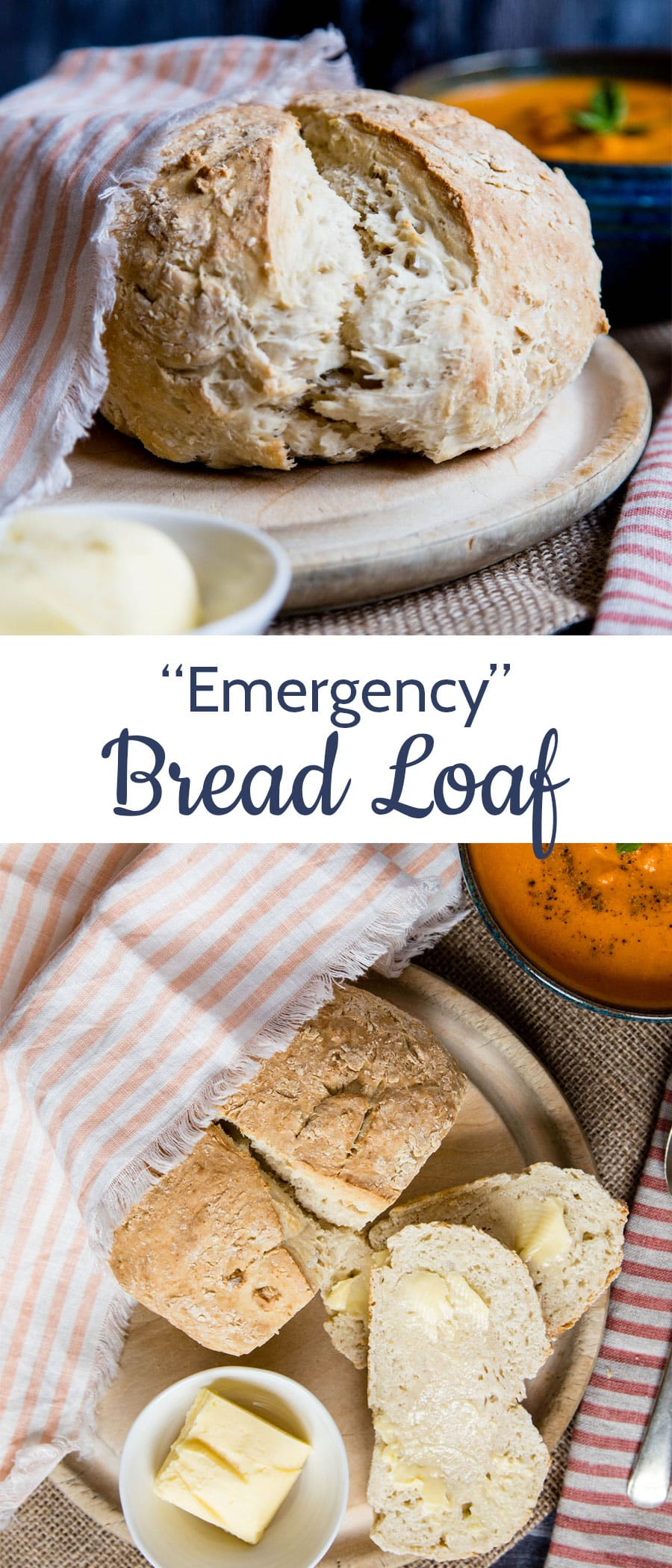 Do you want to learn how to make this easy no yeast bread? Only 4 ingredients in the recipe and 5 minutes of work for beautiful crusty, soft and tender homemade bread! #bread #noyeast